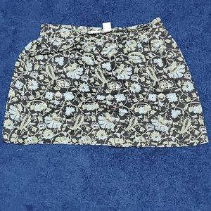 LINEN BLEND PULL ON SKIRT